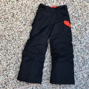 Boys size 10 ski pants black